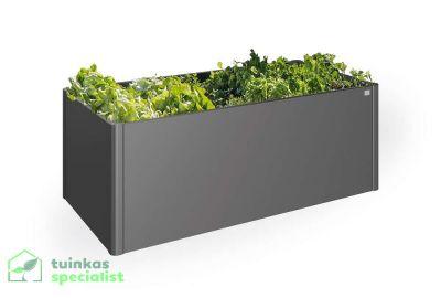 Biohort Moestuinbox 2x1 Donkergrijs - Tuinkasspecialist.nl