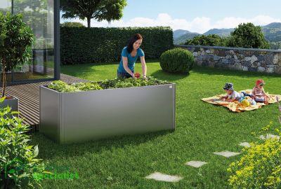 Biohort Moestuinbox 2x1 kwartsgrijs -groente- Tuinkasspecialist.nl